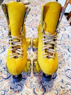 Moxi Lolly Pineapple Roller Skates Size 10 (w11-11.5) Riedell. READY TO SHIP