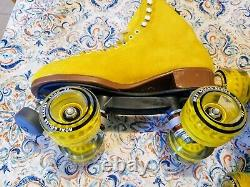 Moxi Lolly Pineapple Roller Skates Size 9 (w10-10.5) Riedell. READY TO SHIP NOW