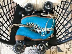 Moxi Lolly Pool Blue Roller Skates Size 5 (w 6-7) Riedell READY TO SHIP NOW