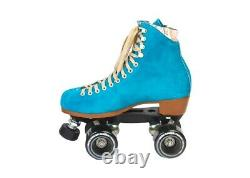 Moxi Lolly Pool Blue Roller Skates Size 8 (w9-9.5) Riedell READY TO SHIP NOW