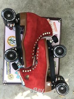 Moxi Lolly Poppy Roller Skates Size 10 (10.5 11)