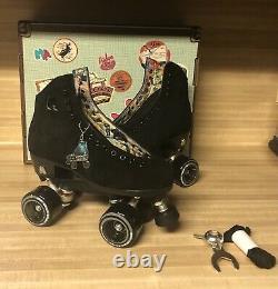 Moxi Lolly Roller Skates Classic Black Size 6 (fits women's 7 7.5)