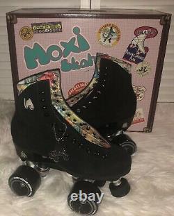 Moxi Lolly Roller Skates Classic Black Size 7 (fits women's 8 & 8.5)