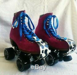 Moxi Lolly Roller Skates Fuchsia Outdoor Size 6 (W 7.5). Brand New WithExtras