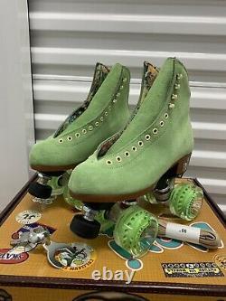 Moxi Lolly Roller Skates Honeydew Brand New Size 7 (Fits Women 8-8.5)