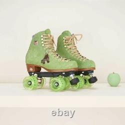 Moxi Lolly Roller Skates Honeydew New Sz 6 Fits Women 7-7.5 + Qube Bearing Spa