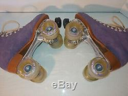 Moxi Lolly Roller Skates PURPLE Size 7 By Riedell with Triton POWER DYNE 62MM 78A