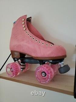 Moxi Lolly Roller Skates Size 8 (W 9-9.5) Strawberry Pink