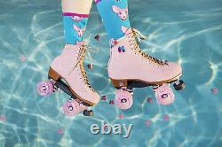 Moxi Lolly Roller Skates Strawberry Pink Brand New Size 8 (Fits Women 9-9.5)