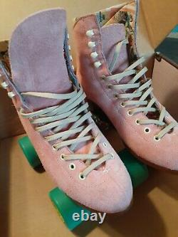 Moxi Lolly Roller Skates Strawberry Pink Size 6(Fits Women 7-7.5)smoothie wheels