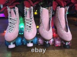 Moxi Lolly Roller Skates Strawberry Pink w Pink Wheels Sz 7 (Women's 8 8.5)