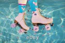 Moxi Lolly Strawberry Pink Roller Skates Size 7 (w8-8.5) Riedell READY TO SHIP