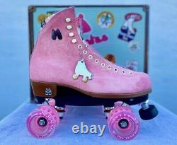 Moxi Lolly Suede Strawberry Pink Size 9 Fits Women's 10-10.5 Roller Skates New