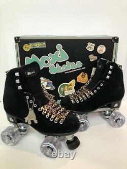 Moxi Panther Roller Skates Size 6 (Womens 7-7.5) Black Suede Riedell Lolly