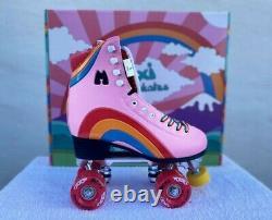 Moxi Rainbow Rider Pink Roller Skates Size Mens 7 Women's 8-8.5. New