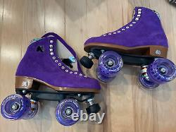 Moxi Roller Skate Lolly Taffy Size 6 (Womens 7-7.5) and Luminous Glow wheels