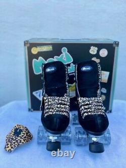 Moxie Black Panther Suede Skate Package Size 10 Fits Womens Size 11, 11 1/2