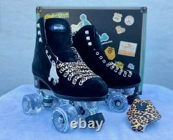 Moxie Black Panther Suede Skate Package Size 7 Fits Womens Size 8, 81/2