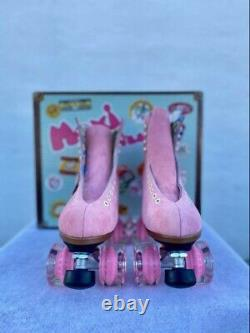 Moxie Lolly Suede Stawberry Pink Size 5, Women's 6 6 1/2 Roller Skates New