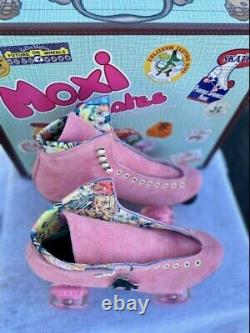 Moxie Lolly Suede Stawberry Pink Size 9 Women's 10 10 1/2 Roller Skates New
