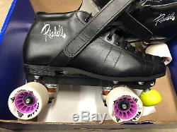 NEW IN BOX Riedell 126 Fuse SPEED Derby Skates Roller Size 9.5 D/B BLACK