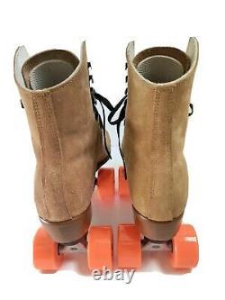 NEW, NIB, Riedell Zone 135 Roller Skates Tan Size 7 Medium Radar Energy Wheels
