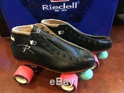 NEW! RIEDELL TORCH 495 ROLLER SKATES BLACK WOMEN's sz 6.5 B/AA Width QUAD $600