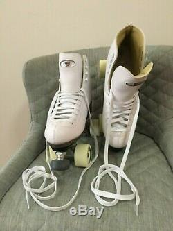 NEW Riedell 111 Angel Roller Skates Artistic White Size 9 Width D