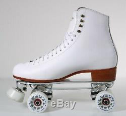 NEW Riedell 220 Century Roll-Line White Artistic Roller Skates Womens Size 11M