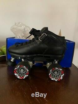 NEW Riedell R3 Black Quad Roller Derby Skates