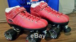 NEW Riedell Speed Skates Diablo Roller Derby Skates Kid's Size 2 FREE SHIPPING