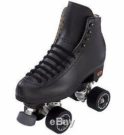New Black Riedell Angel Mens Quad Artistic Roller Skates D Width