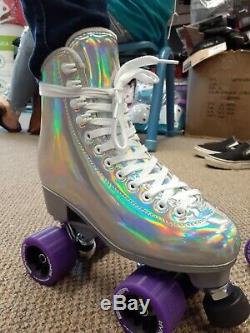 New Jackson Evo Outdoor Roller Skates by Atom with Riedell Sonar Purple Wheels