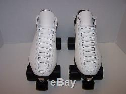 New Riedell 122 Custom Leather Roller Skates Mens Size 12
