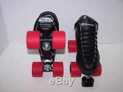 New Riedell 122 Custom Leather Roller Skates Mens Size 4 (ladies 5)
