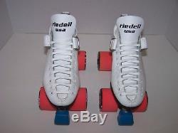 New Riedell 125 Custom Leather Roller Skates Mens Size 5.5 (ladies 6.5)