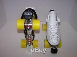 New Riedell 125 Custom Leather Roller Skates Mens Size 9.5
