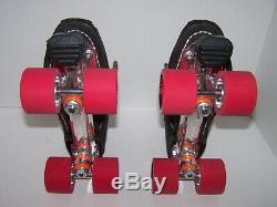 New Riedell 125 Labeda Pro-line Custom Leather Roller Skates Men's 9.5