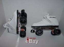 New Riedell 125 Labeda Pro-line Custom Leather Roller Skates Mens Size 8