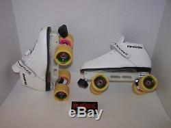 New Riedell 125 Laser Custom Leather Roller Skates Mens Size 10