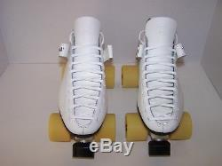 New Riedell 125 Laser Custom Leather Roller Skates Mens Size 10