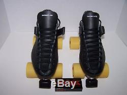 New Riedell 125 Laser Custom Leather Roller Skates Mens Size 9.5