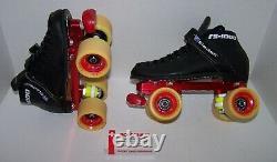 New Riedell 125 Powertrac Custom Leather Roller Skates Mens 5