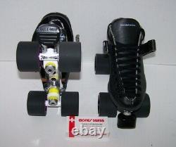 New Riedell 125 Powertrac Custom Leather Roller Skates Mens 5.5
