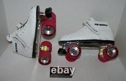 New Riedell 125 Powertrac Custom Leather Roller Skates Mens 8