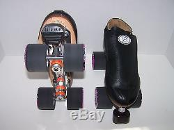 New Riedell 395 Labeda Pro-line Leather Roller Skates Mens Size 6.5