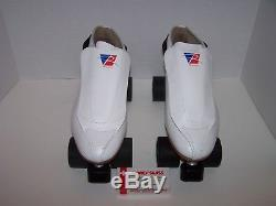 New Riedell 395 Powertrac Custom Leather Roller Skates Mens Size 12