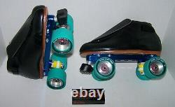New Riedell 395 Powertrac Custom Leather Roller Skates Mens Size 7