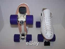 New Riedell 595 Laser Custom Leather Roller Skates Mens Size 10.5