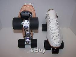 New Riedell 595 Powertrac Custom Leather Roller Skates Mens Size 11